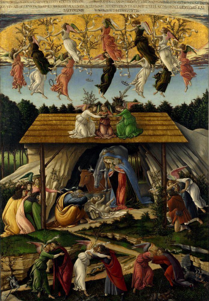 Sandro Botticelli, Mistik Doğum, Kanvas Tablo, Sandro Botticelli, kanvas tablo, canvas print sales