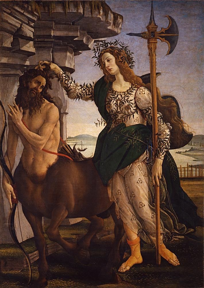 Sandro Botticelli, Pallade  e il  Centauro, Kanvas Tablo, Sandro Botticelli, kanvas tablo, canvas print sales