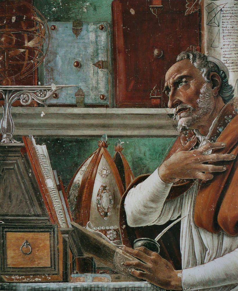 Sandro Botticelli, Aziz Augustin, Kanvas Tablo, Sandro Botticelli, kanvas tablo, canvas print sales