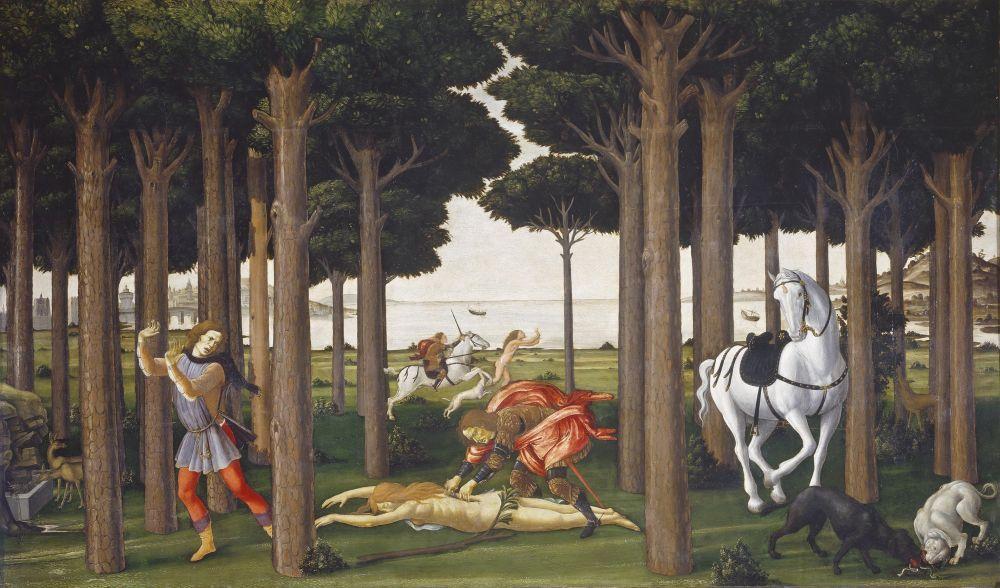 Sandro Botticelli, Nastagio degli Onesti Hikayesi, Bölüm 2, Kanvas Tablo, Sandro Botticelli, kanvas tablo, canvas print sales