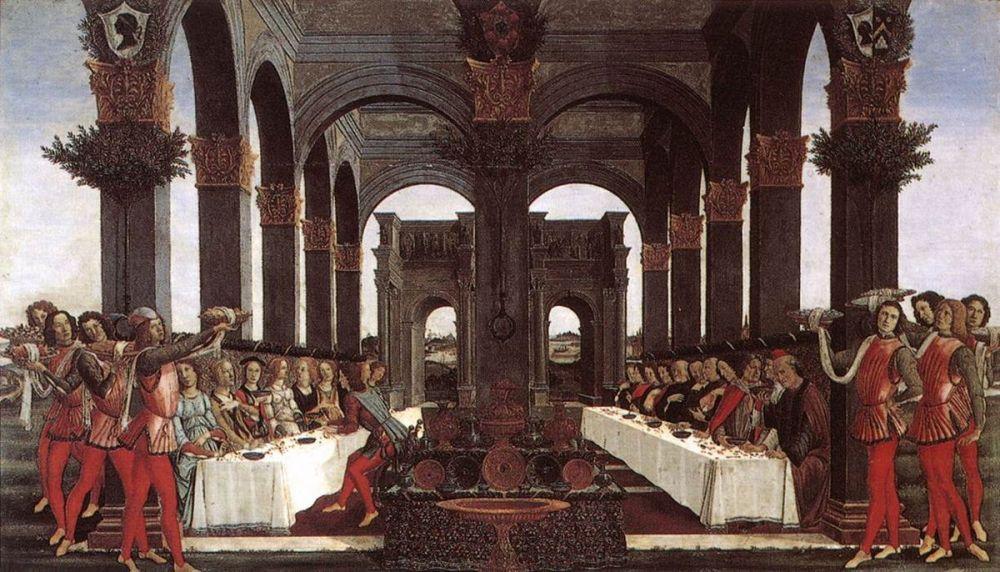 Sandro Botticelli, Nastagio degli Onesti Hikayesi, Bölüm 4, Kanvas Tablo, Sandro Botticelli, kanvas tablo, canvas print sales