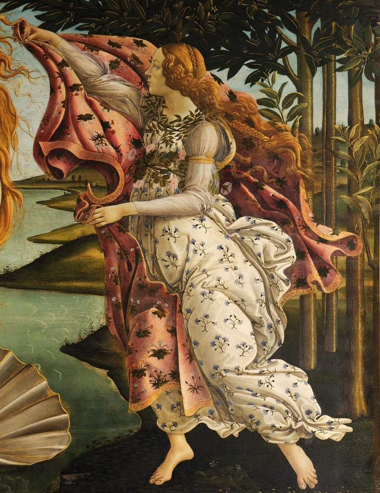 Sandro Botticelli, Venüsun Doğumu, Hora, Kanvas Tablo, Sandro Botticelli, kanvas tablo, canvas print sales