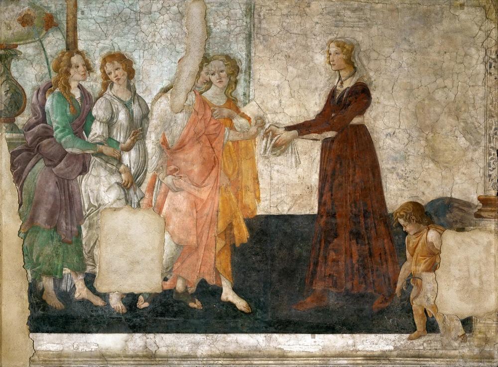 Sandro Botticelli, Venüs ve Genç Bir Kadına Hediye Veren Üç Güzel, Kanvas Tablo, Sandro Botticelli, kanvas tablo, canvas print sales