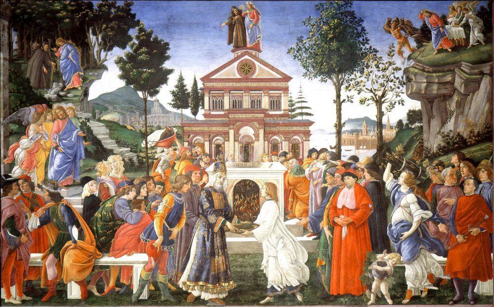 Sandro Botticelli, Tentaciones de Cristo, Kanvas Tablo, Sandro Botticelli, kanvas tablo, canvas print sales