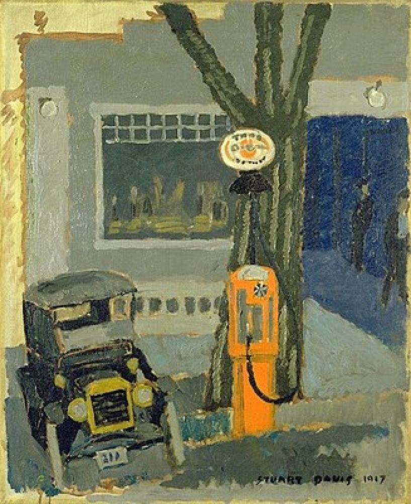 Stuart Davis Garage No. 1, Kanvas Tablo, Stuart Davis, kanvas tablo, canvas print sales