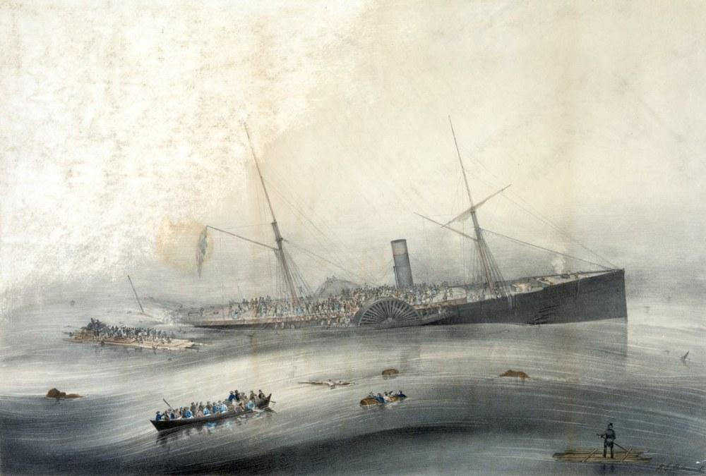 USM Vapur Arctic Batığı, Thomas Buttersworth, Kanvas Tablo, Thomas Buttersworth, kanvas tablo, canvas print sales