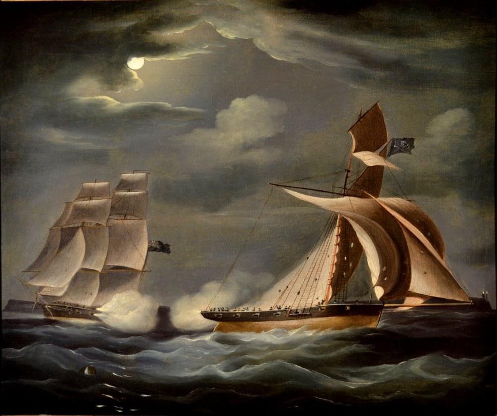 Sailor Ships Canvas Print, Thomas Buttersworth, Canvas, Thomas Buttersworth