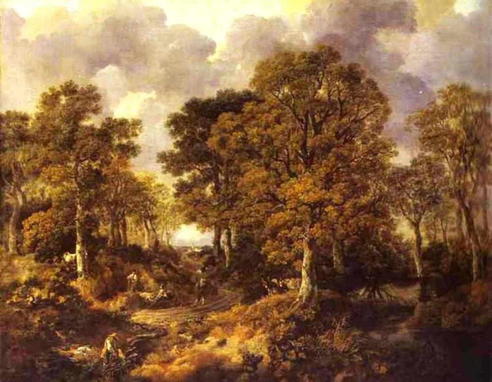 Thomas Gainsborough Orman Yağlıboya Tablo, Kanvas Tablo, Thomas Gainsborough