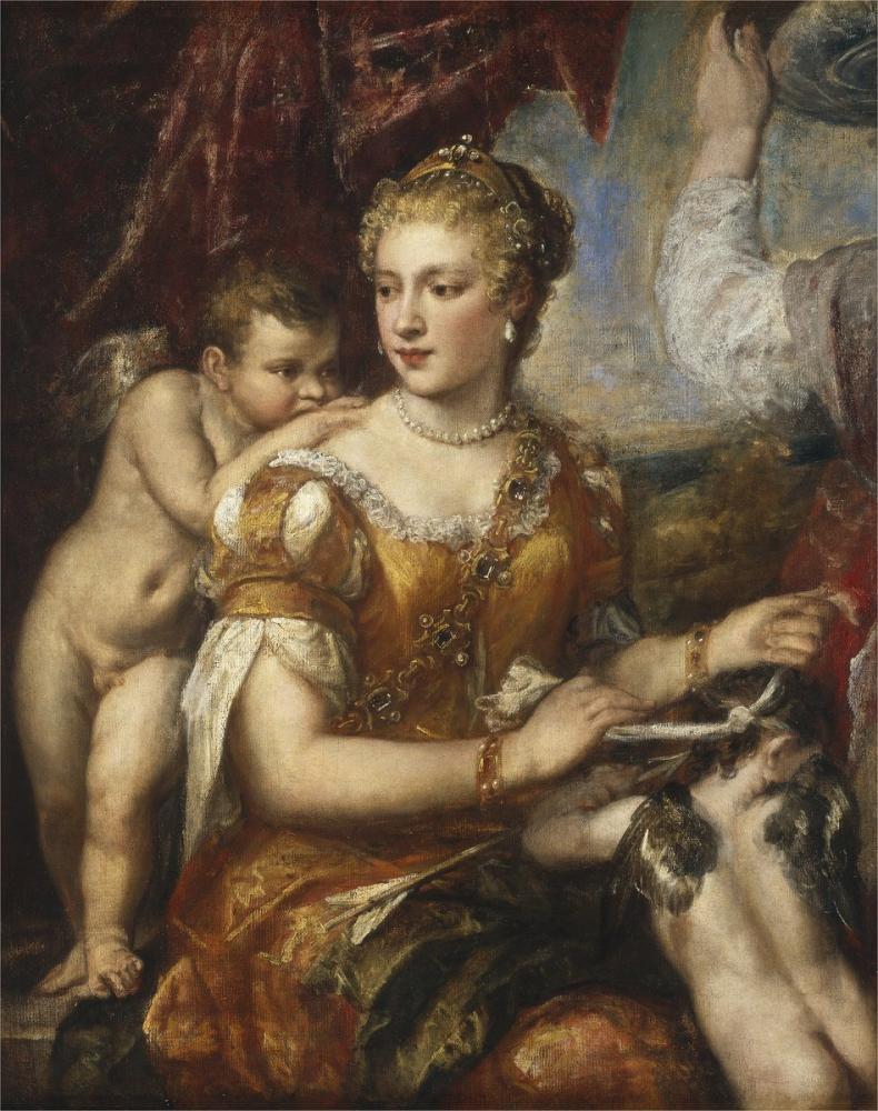Titian Venus Blindfolding Cupid, Canvas, Titian, kanvas tablo, canvas print sales