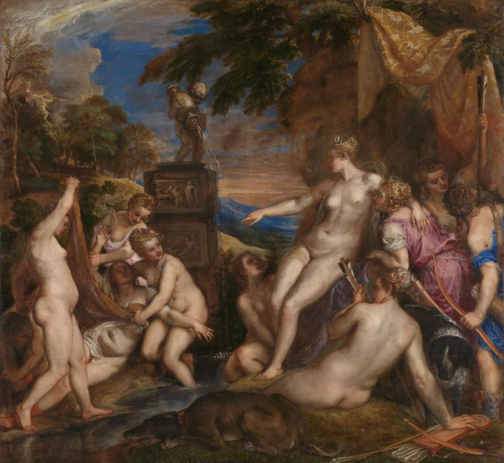 Titian Diana Ve Callisto, Kanvas Tablo, Titian, kanvas tablo, canvas print sales