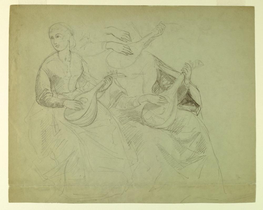 Titian Drawing IV, Canvas, Titian, kanvas tablo, canvas print sales