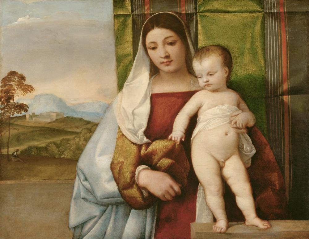 Titian Gipsy Madonna, Canvas, Titian, kanvas tablo, canvas print sales