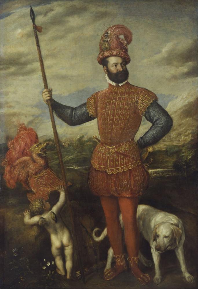 Titian Askeri Kostümlü Adam, Kanvas Tablo, Titian, kanvas tablo, canvas print sales