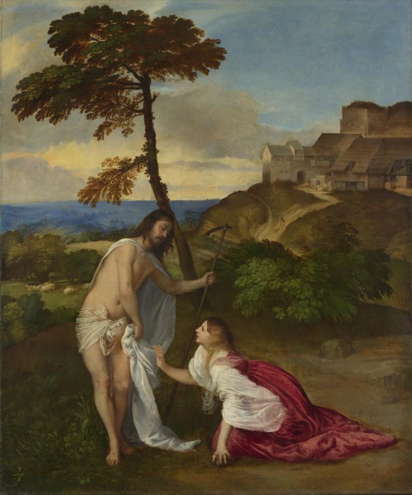 Titian Noli Me Tangere, Canvas, Titian, kanvas tablo, canvas print sales
