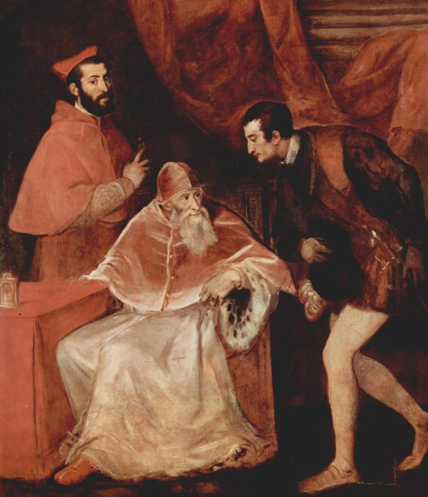 Titian Papa Paul III Ve Torunları, Kanvas Tablo, Titian, kanvas tablo, canvas print sales
