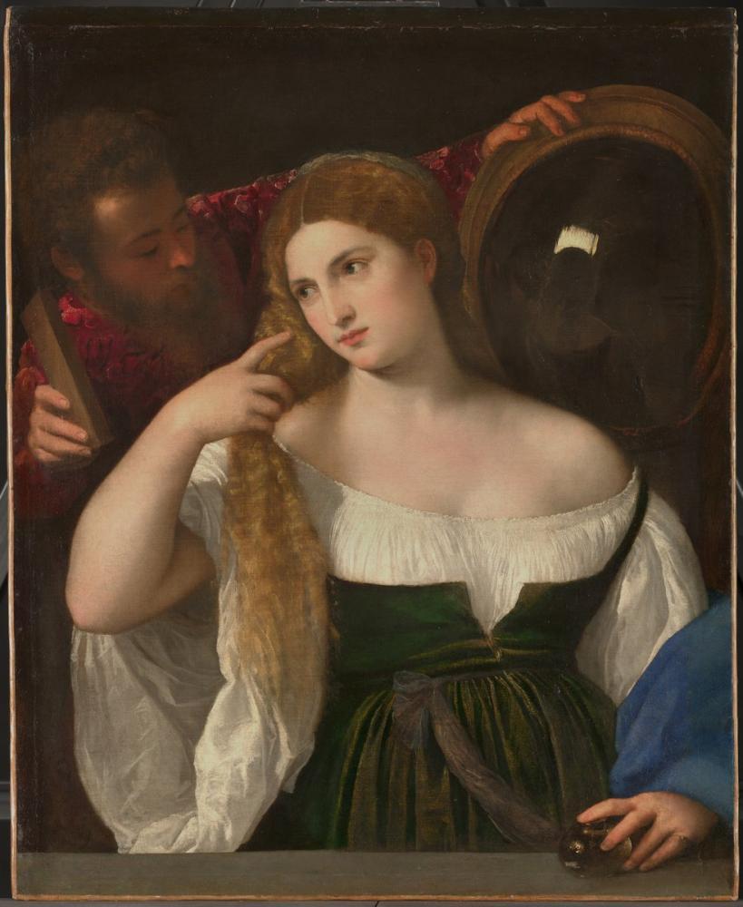 TitianTuvalette Bir Kadının Portresi, Kanvas Tablo, Titian, kanvas tablo, canvas print sales