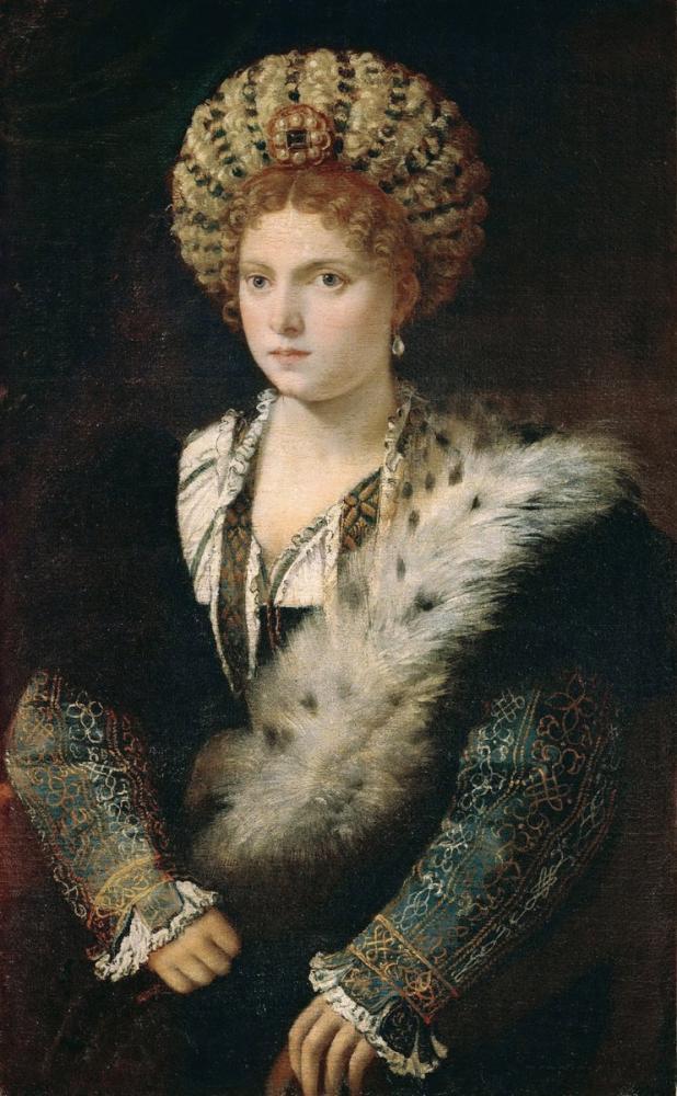 Titian Portrait Of Isabella d Este, Canvas, Titian, kanvas tablo, canvas print sales