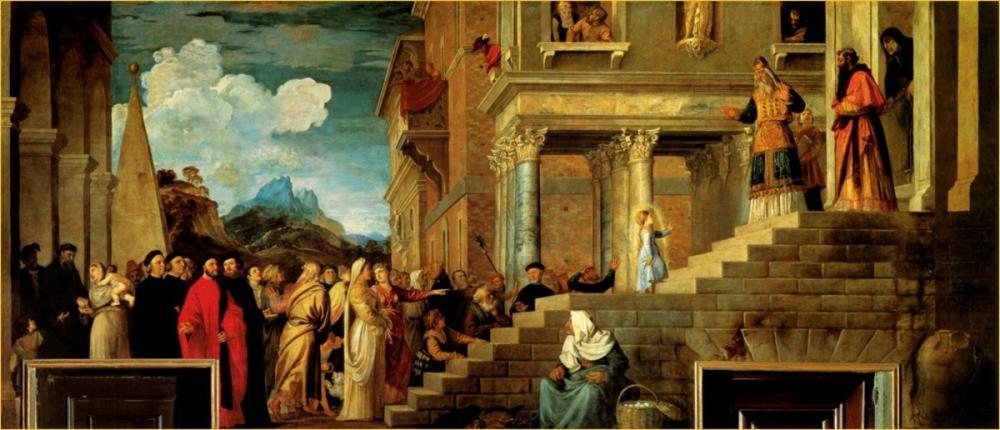 Titian Presentation Of The Virgin, Canvas, Titian, kanvas tablo, canvas print sales