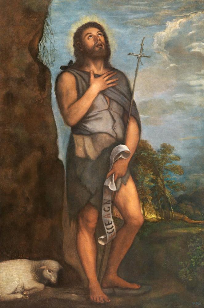 Titian Vaftizci Yahya, Kanvas Tablo, Titian, kanvas tablo, canvas print sales
