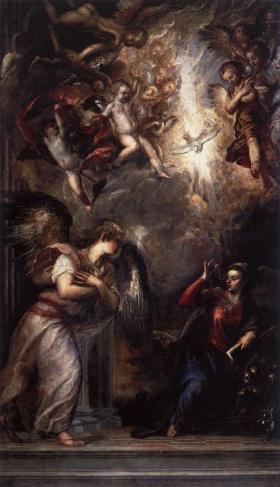 Titian San Salvador Interno Annunciazione Del Signore, Canvas, Titian, kanvas tablo, canvas print sales