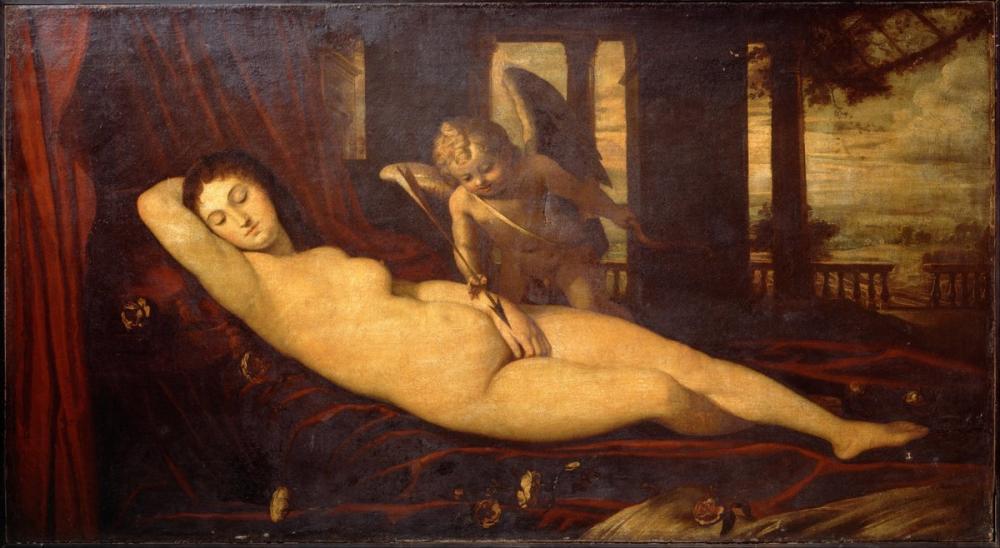 Titian Sleeping Venus, Canvas, Titian, kanvas tablo, canvas print sales