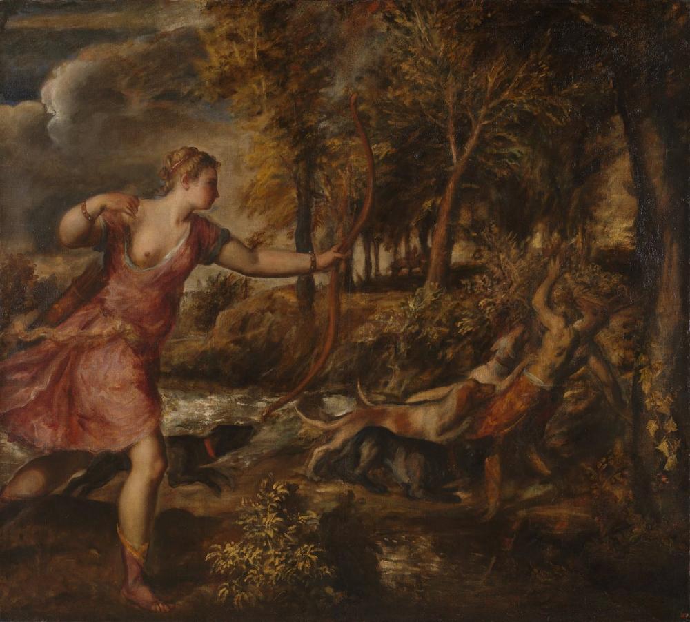 Titian Actaeon Ölümü, Kanvas Tablo, Titian, kanvas tablo, canvas print sales
