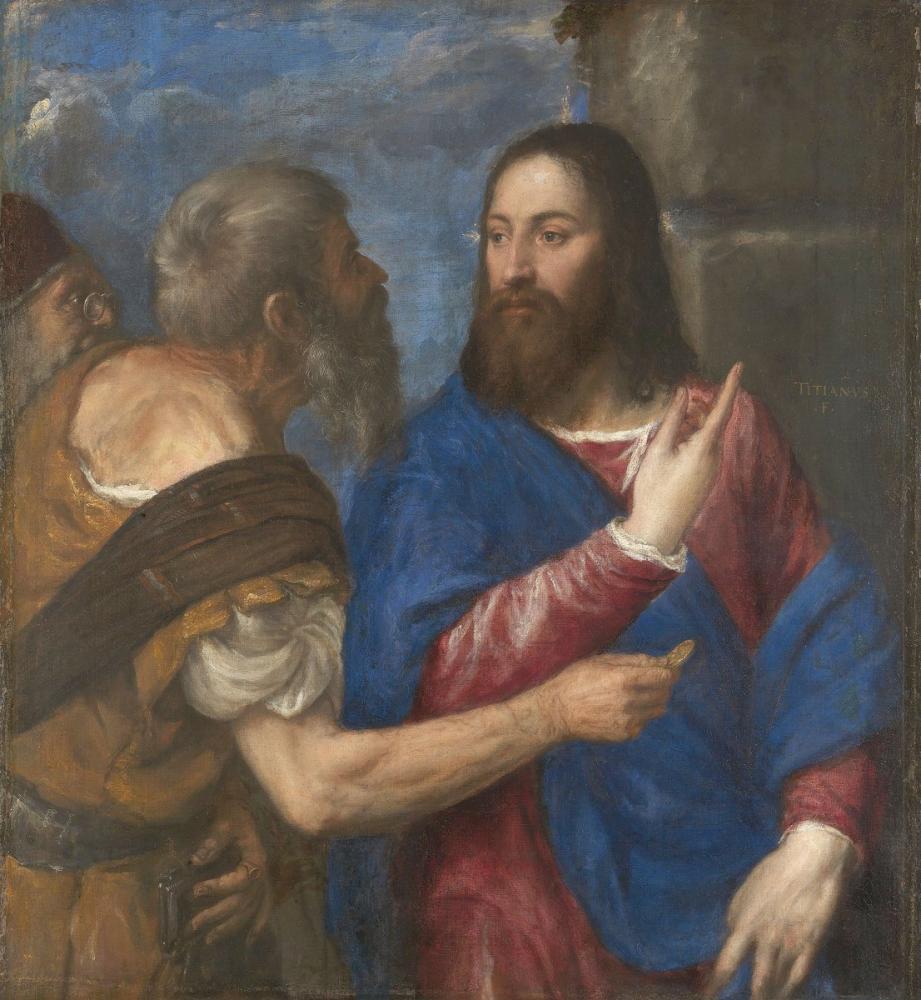 Titian The Tribute Money, Canvas, Titian, kanvas tablo, canvas print sales