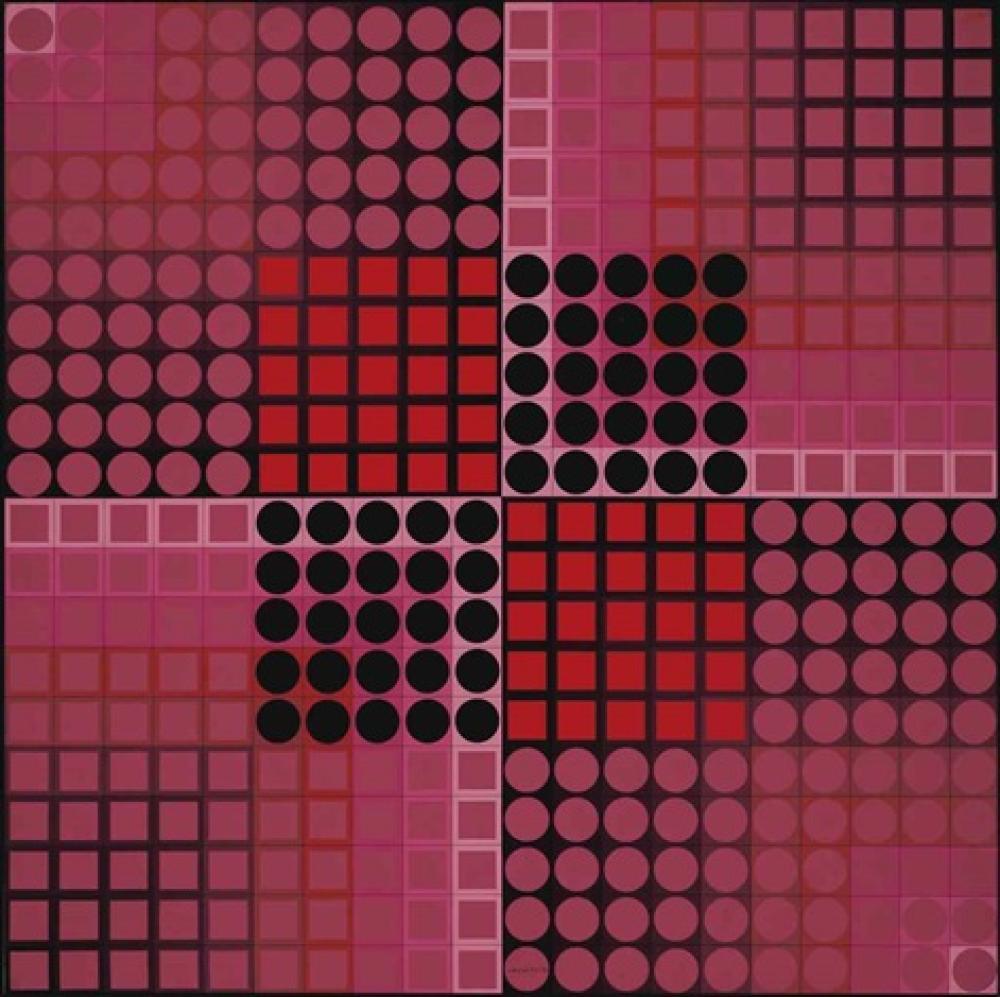 Victor Vasarely Chand-R, Kanvas Tablo, Victor Vasarely, kanvas tablo, canvas print sales