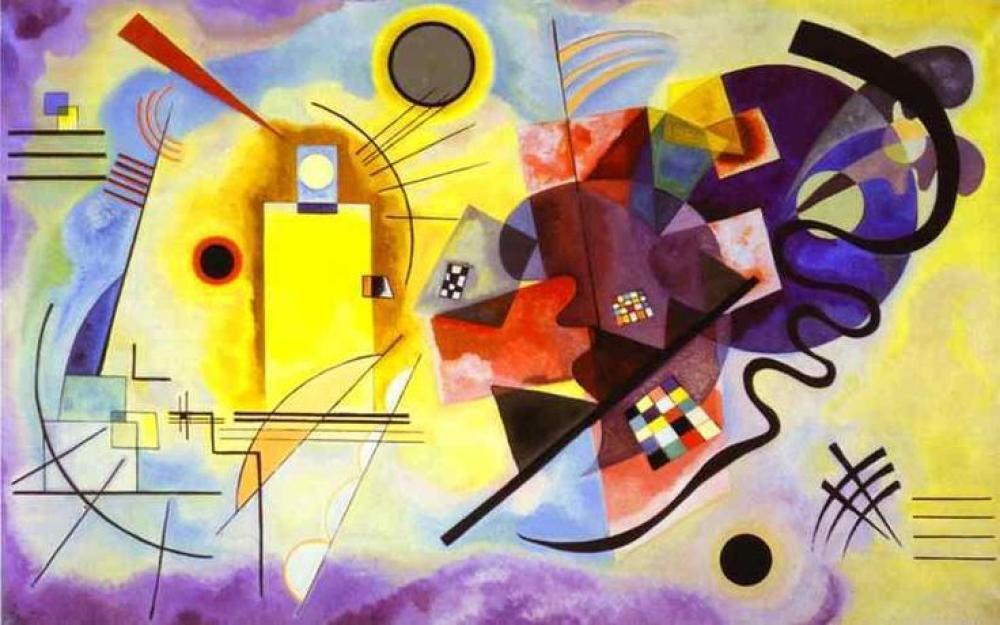 Vassily Kandinsky Sarı Kırmızı Mavi, Kanvas Tablo, Vasily Kandinsky, kanvas tablo, canvas print sales
