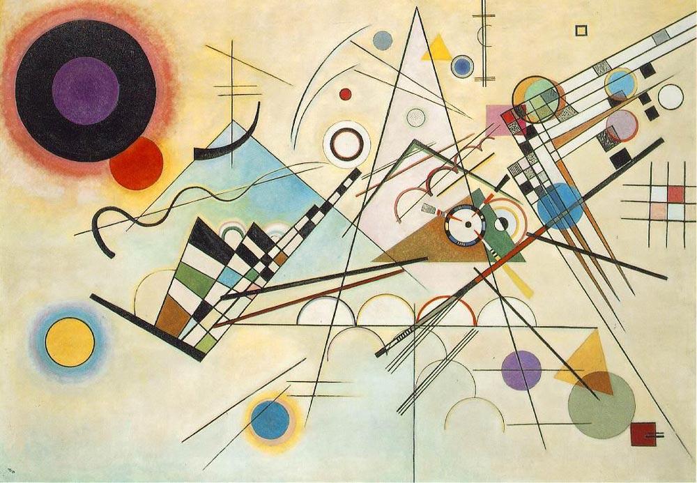 Vassily Kandinsky Kompozisyon 8, Kanvas Tablo, Vasily Kandinsky, kanvas tablo, canvas print sales