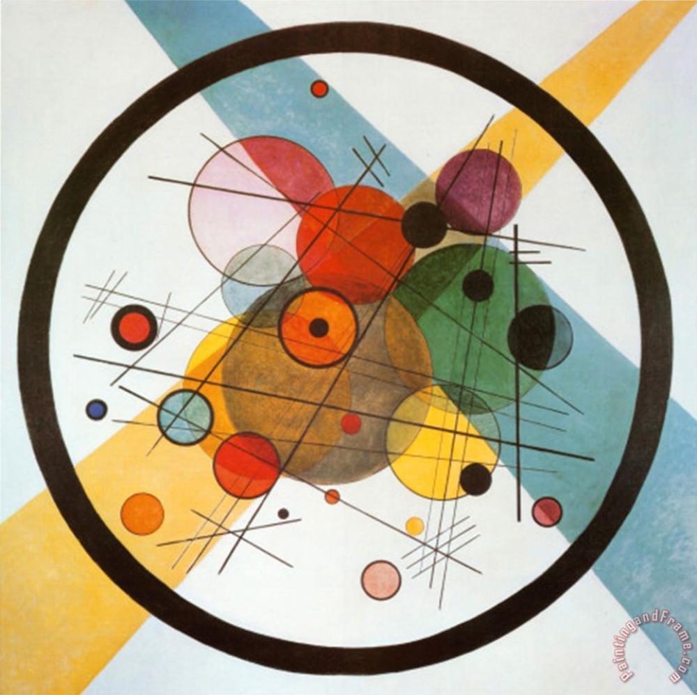 Vassiliy Kandinsky Çember İçinde Çember, Kanvas Tablo, Vasily Kandinsky, kanvas tablo, canvas print sales