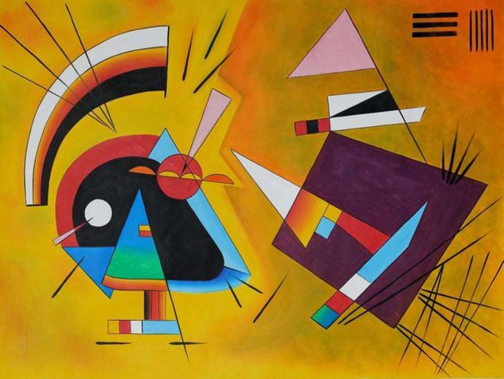 Vassily Kandinsky Siyah ve Mor, Kanvas Tablo, Vasily Kandinsky, kanvas tablo, canvas print sales