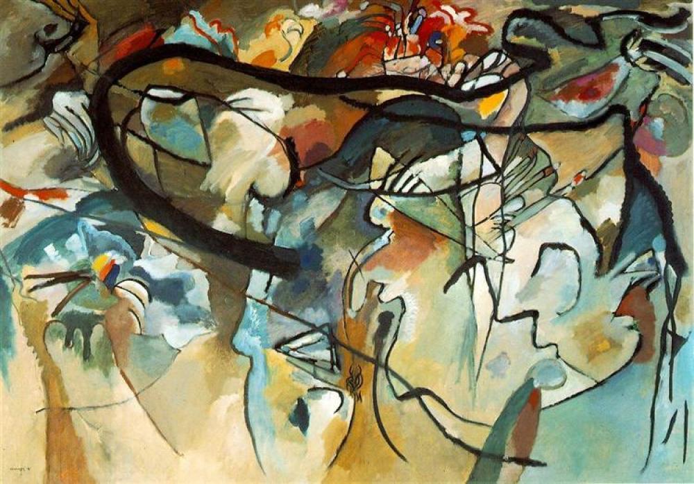 Vassily Kandinsky Kompozisyon 5 Yağlıboya Tablo, Kanvas Tablo, Vasily Kandinsky, kanvas tablo, canvas print sales