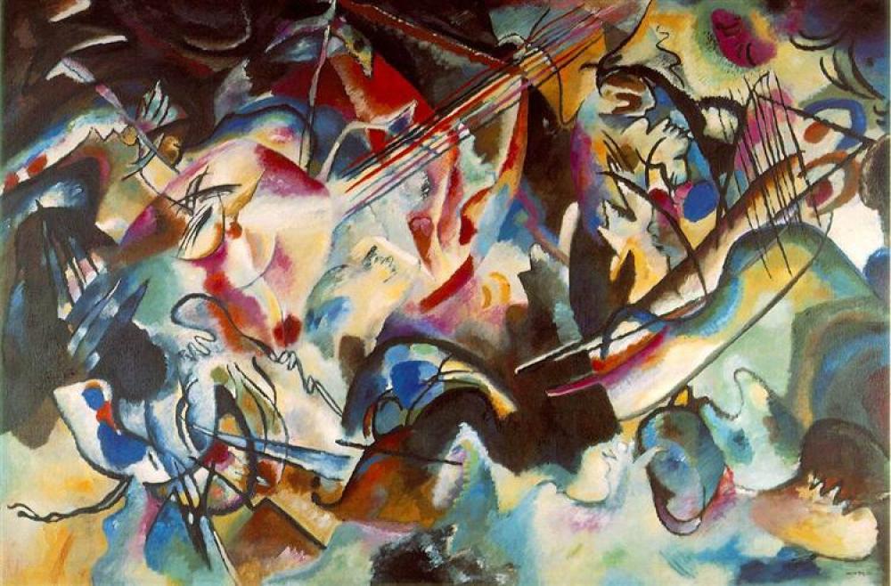 Vassily Kandinsky Kompozisyon 6 Yağlıboya Tablo, Kanvas Tablo, Vasily Kandinsky, kanvas tablo, canvas print sales