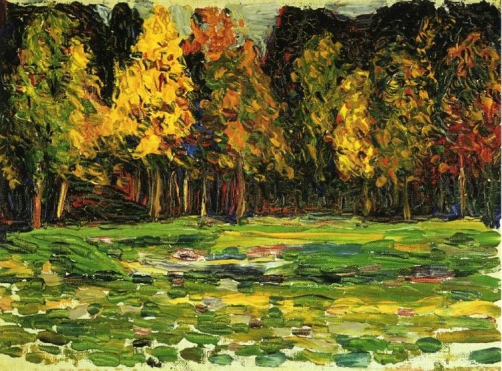 Vassily Kandinsky Orman Kenarı Yağlıboya Tablo, Kanvas Tablo, Vasily Kandinsky, kanvas tablo, canvas print sales