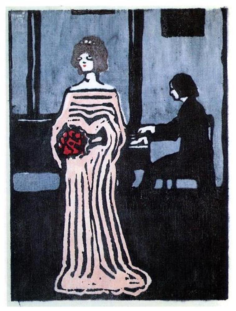 Vassily Kandinsky Şarkıcı Gravür Tablo, Kanvas Tablo, Vasily Kandinsky, kanvas tablo, canvas print sales