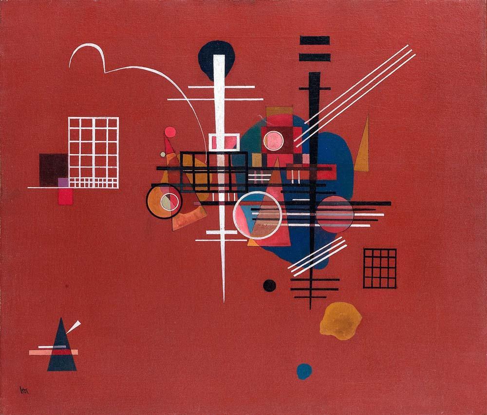 Vassily Kandinsky Dumpfes Rot No.400, Kanvas Tablo, Vasily Kandinsky, kanvas tablo, canvas print sales