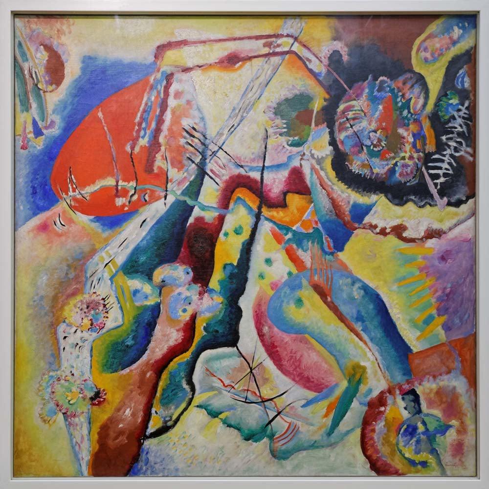 Vassily Kandinsky Bild mit rotem Fleck, Canvas, Vasily Kandinsky, kanvas tablo, canvas print sales