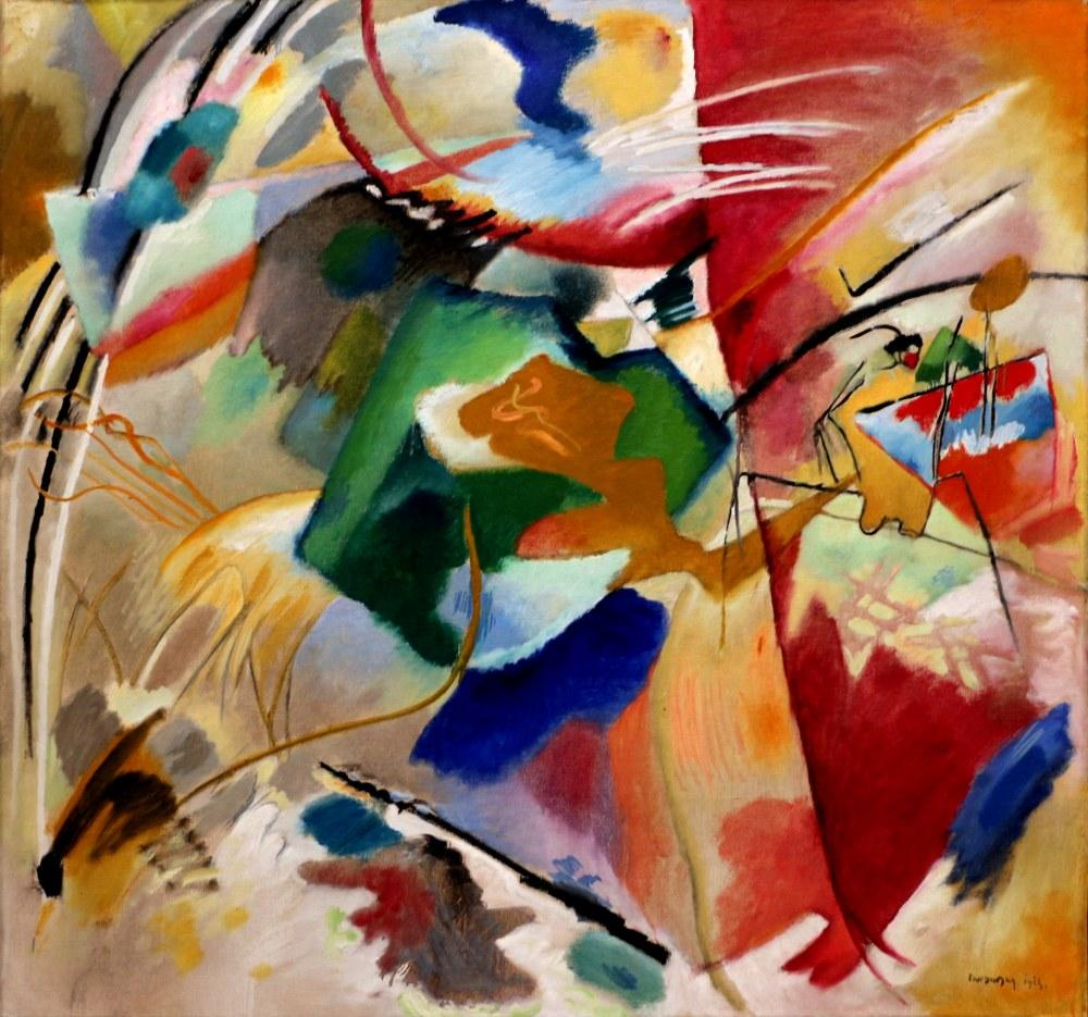 Painting with Green Center, Vasily Kandinsky, Canvas, Vasily Kandinsky, kanvas tablo, canvas print sales