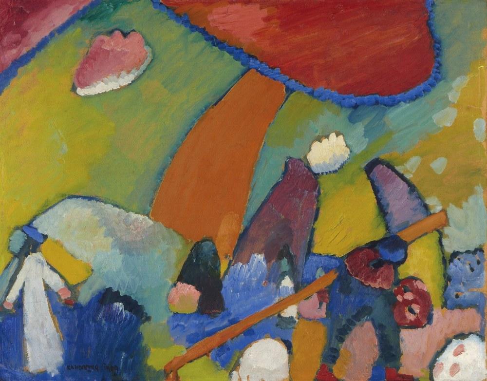Plaj Manzarası, Vasily Kandinsky, Kanvas Tablo, Vasily Kandinsky, kanvas tablo, canvas print sales