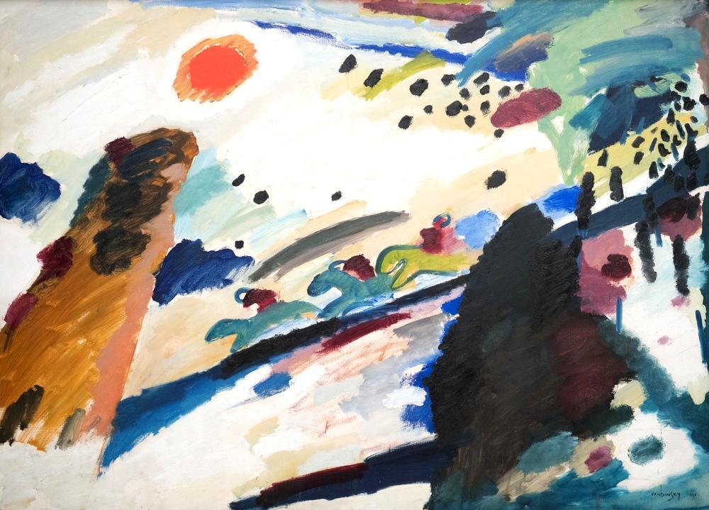 Romantik Manzara, Vasily Kandinsky, Kanvas Tablo, Vasily Kandinsky, kanvas tablo, canvas print sales