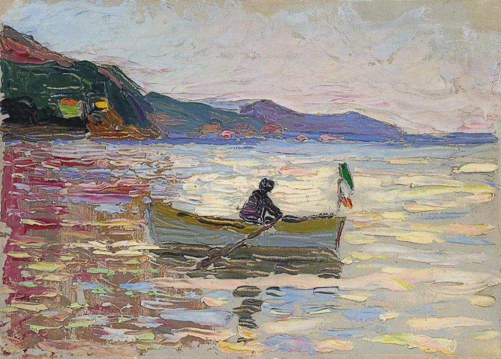 Rapallo Boot Im Meer, Vasily Kandinsky, Kanvas Tablo, Vasily Kandinsky, kanvas tablo, canvas print sales