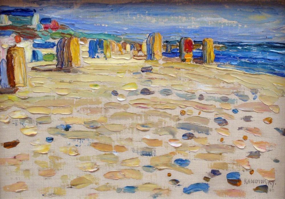 Beach Baskets in Holland, Vasily Kandinsky, Canvas, Vasily Kandinsky, kanvas tablo, canvas print sales