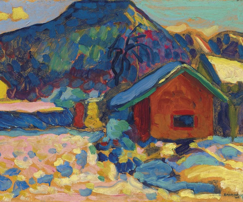Winter Study with Mountain, Vasily Kandinsky, Canvas, Vasily Kandinsky, kanvas tablo, canvas print sales