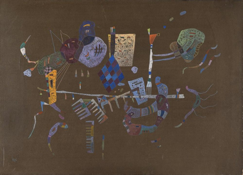 Çizgi Hat Çevresinde, Vasily Kandinsky, Kanvas Tablo, Vasily Kandinsky, kanvas tablo, canvas print sales