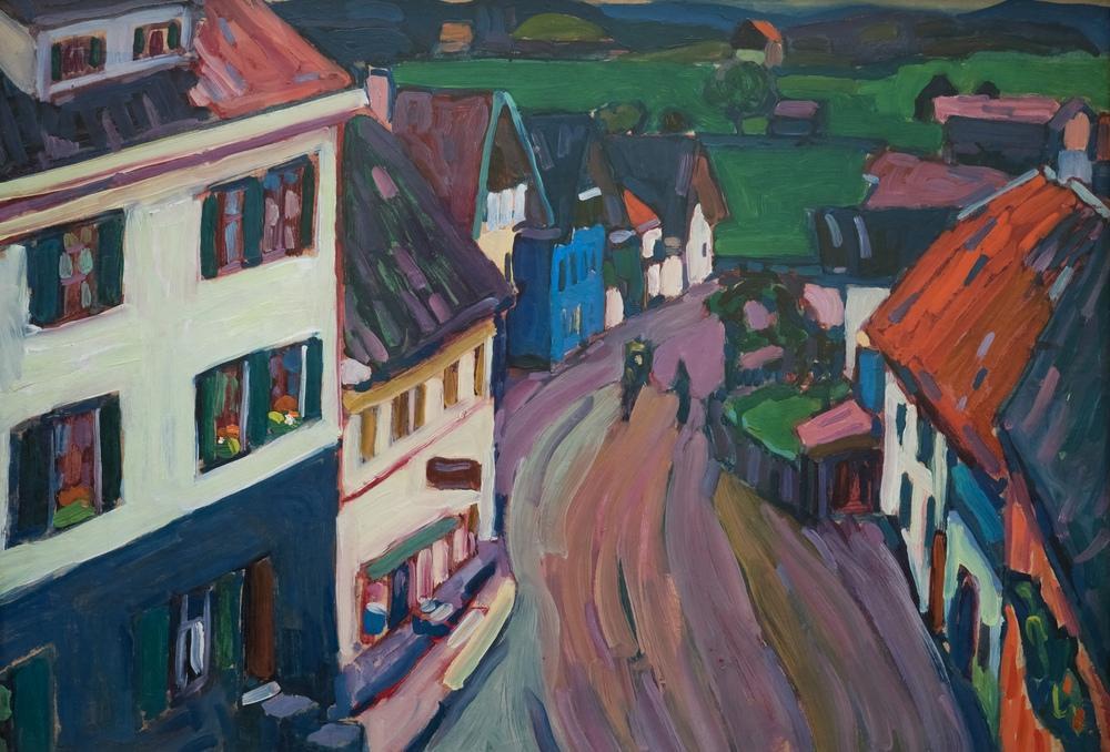 Griesbräu Penceresinden Johannisstrasse, Vasily Kandinsky, Kanvas Tablo, Vasily Kandinsky, kanvas tablo, canvas print sales