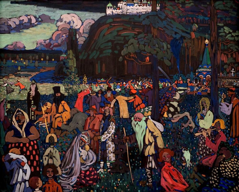 Renkli Hayat, Vasily Kandinsky, Kanvas Tablo, Vasily Kandinsky, kanvas tablo, canvas print sales
