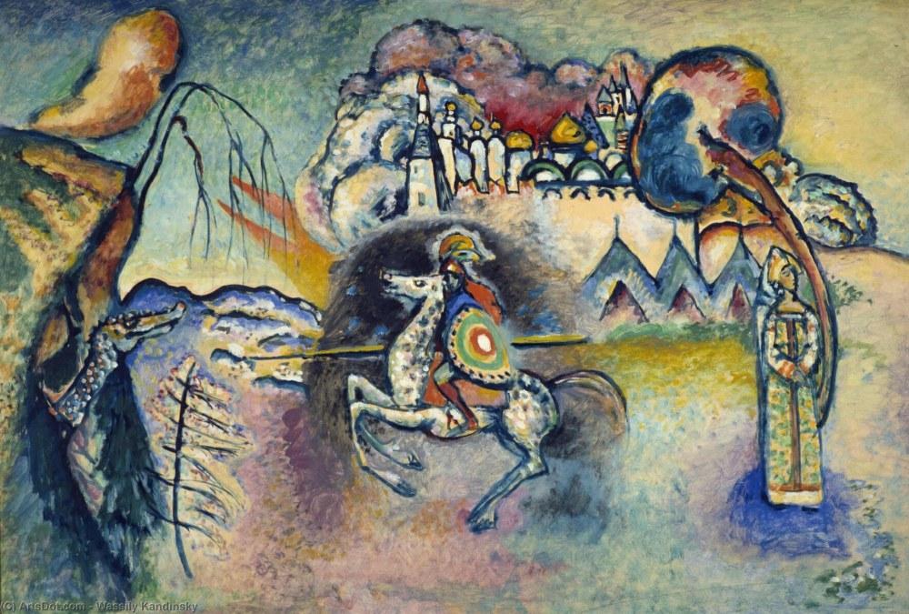 St George ve Ejderha, Vasily Kandinsky, Kanvas Tablo, Vasily Kandinsky, kanvas tablo, canvas print sales