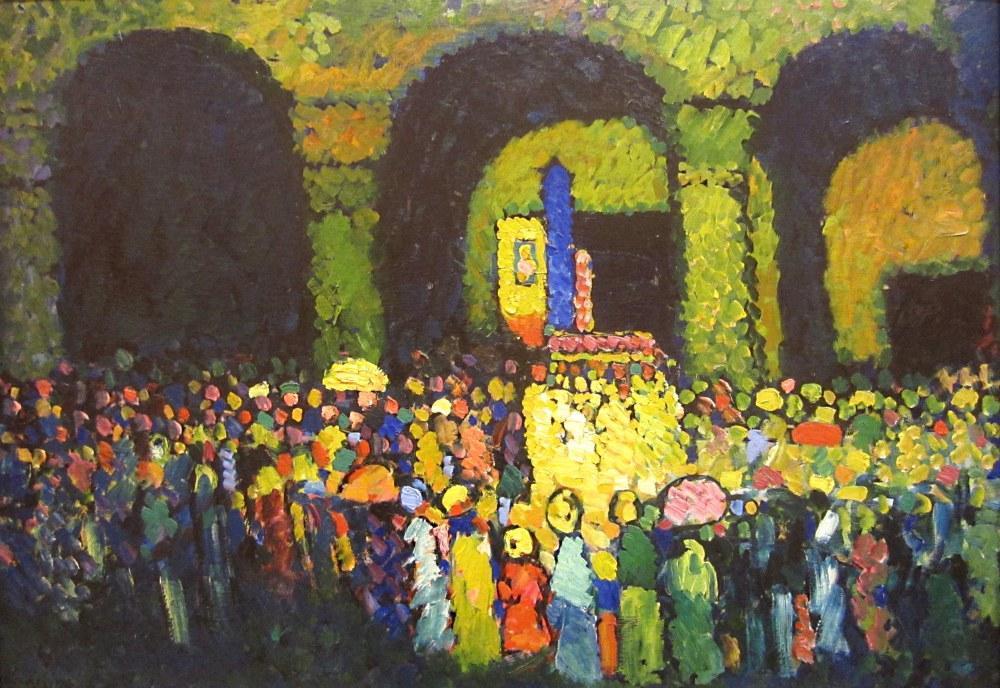 Ludwigskirche in Munich, Vasily Kandinsky, Kanvas Tablo, Vasily Kandinsky, kanvas tablo, canvas print sales