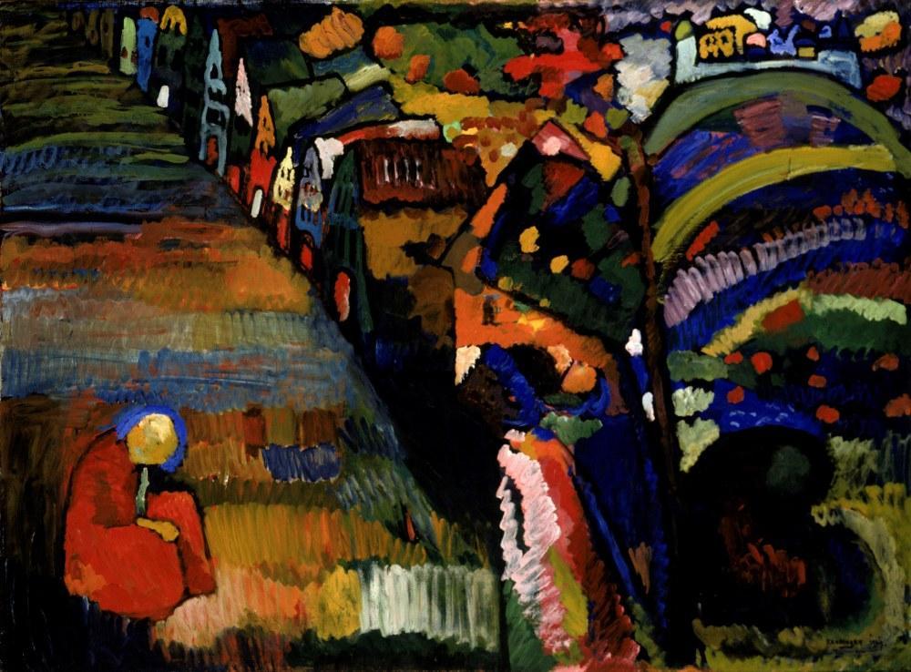 Evler Resim, Vasily Kandinsky, Kanvas Tablo, Vasily Kandinsky, kanvas tablo, canvas print sales